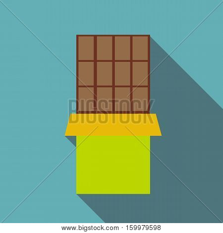 Chocolate icon. Flat illustration of chocolate vector icon for web