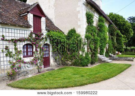 CHENONCEAU FRANCE - JUNE2013 - Farm at the Chateau de Chenonceau Loire Valley castle near the village of Chenonceaux.