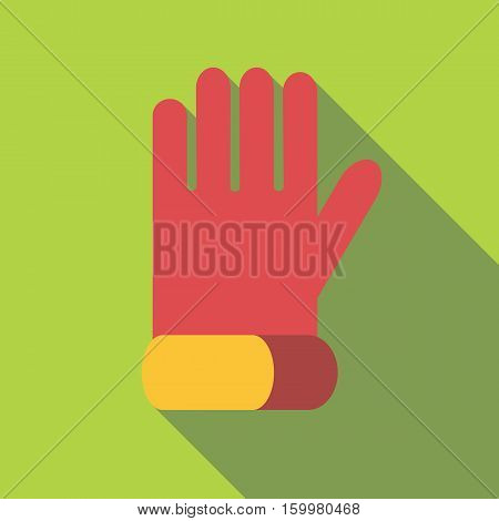 Glove for biker icon. Flat illustration of glove for biker vector icon for web