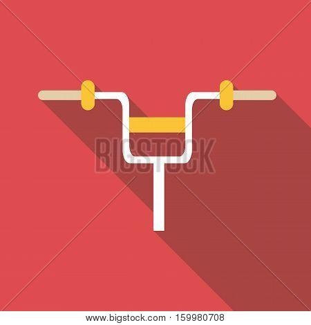 Bicycle handlebar icon. Flat illustration of bicycle handlebar vector icon for web