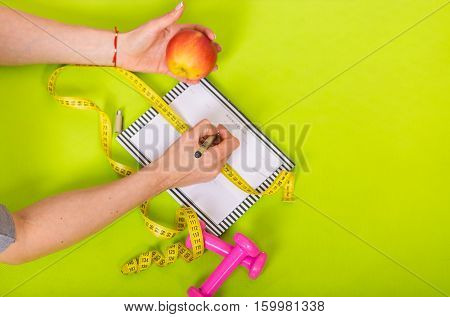 Woman With A Weekly Planner
