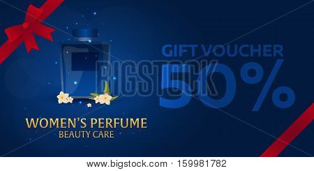Gift Voucher. Women's Perfume. Beauty Care. Classic Bottle Of Perfume. Liquid Luxury Fragrance Aroma