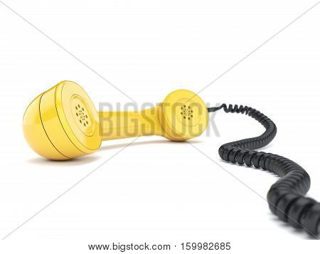 3D Rendering Of The Old Telephone Handset