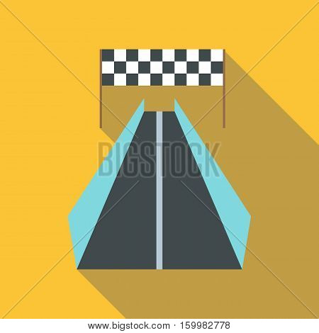 Race road for cyclists icon. Flat illustration of race road for cyclists vector icon for web