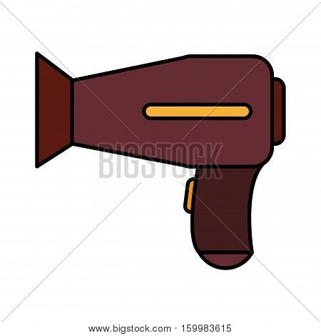 Hair dryer icon. Hair salon supply utensil and barbershop theme. Isolated design. Vector illustration
