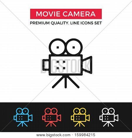 Vector Movie Camera Icon Video Production Filmmaking Premium Quality Graphic Design Modern