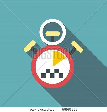 Taximeter icon. Flat illustration of taximeter vector icon for web