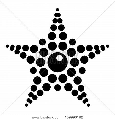 Spotted star icon. Simple illustration of spotted star vector icon for web