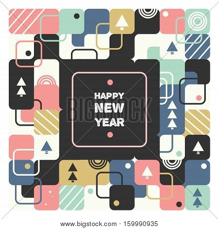 Merry Christmas, geometric abstract background, poster, theme and background pattern. vector