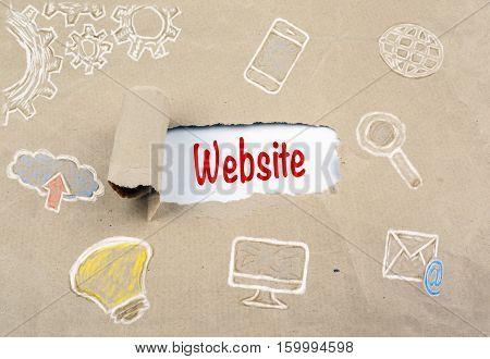 Inscription revealed on old paper - Website, Browser Internet Technology Connection Concept