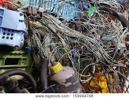 old car electric wiring set recycling industry objects