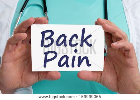 Back Pain Screening Check-up Ill Illness Healthy Health Doctor