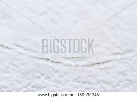 footprints on white snow, walk, pathfinder winter frost
