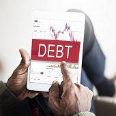 Debt Obligation Banking Finance Loan Money Concept poster
