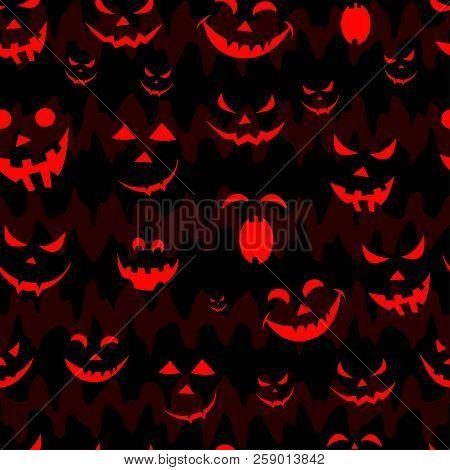 Abstract Seamless Pumpkin Pattern For Girls,boy, Kids, Halloween, Clothes. Creative Vector Halloween