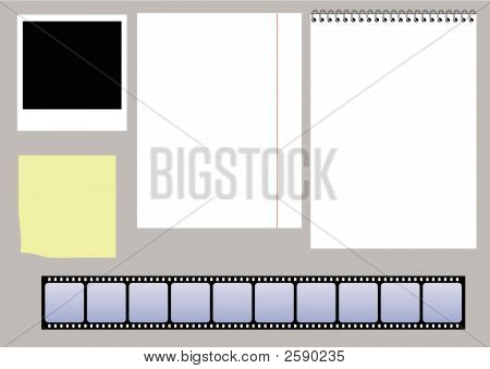 Paper And Slides Vector Set
