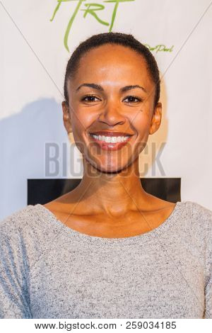 Erica Luttrell  arrives at the The Art Of Social Media EMMY Gifting Lounge at the Waldorf Astoria Hotel, Beverly Hills, CA on Sept. 15, 2018.