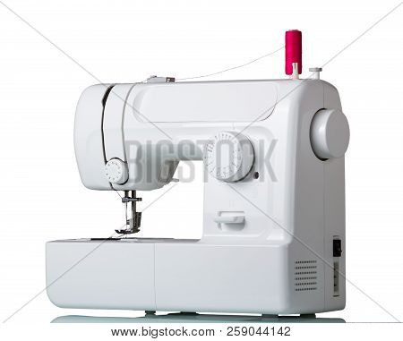 Electric Sewing Machine Isolated On White Background