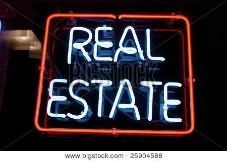 """Neon Sign series  """"real estate"""""""