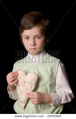 Boy With Fabric Heart