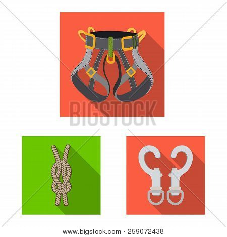 Isolated Object Of Mountaineering And Peak Icon. Collection Of Mountaineering And Camp Stock Symbol