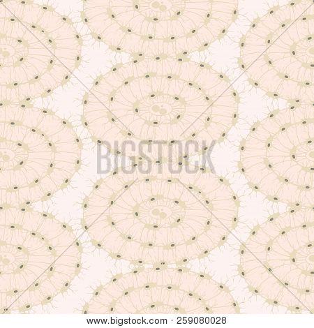 Bone Cells Osteon Seamless Pattern Vector Illustration