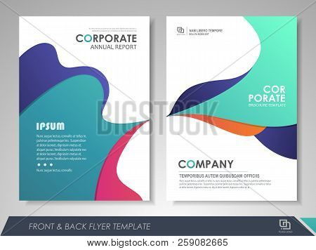 Front And Back Page Modern  Brochure Design, Brochure Template, Brochures, Brochure Layout, Brochure
