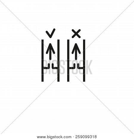 Medical Experiment Line Icon. Tube, Arrow, Comparison. Laboratory Concept. Vector Illustration Can B