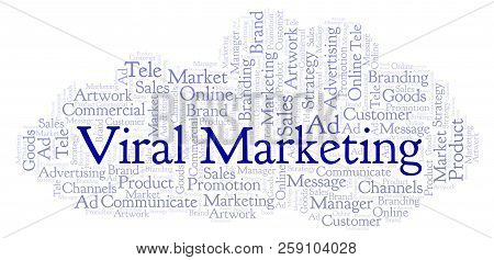 Word Cloud With Text Viral Marketing. Wordcloud Made With Text Only.