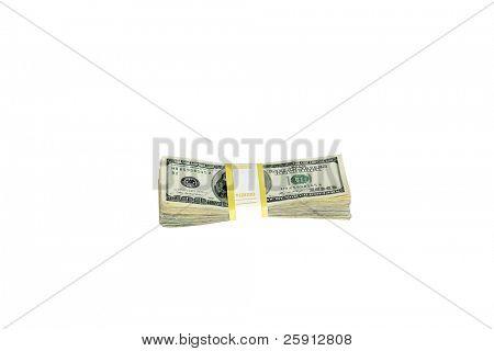 Ten Thousand dollars isolated on white