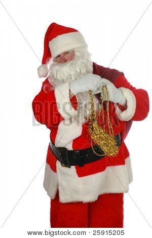 Classic portrait of Santa Claus              isolated on white