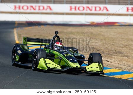 September 14, 2018 - Sonoma, California, USA: CHARLIE KIMBALL (23) of the United States takes to the track to practice for the Indycar Grand Prix of Sonoma at Sonoma Raceway in Sonoma, California.