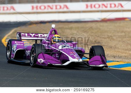 September 14, 2018 - Sonoma, California, USA: SANTINO FERRUCC (39) of the United States takes to the track to practice for the Indycar Grand Prix of Sonoma at Sonoma Raceway in Sonoma, California.