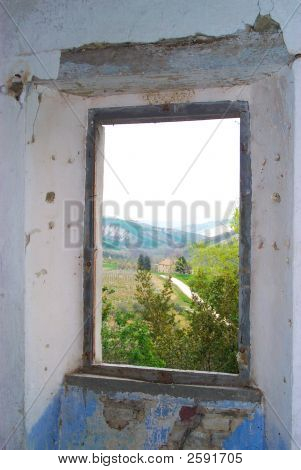 View From The Farmhouse Window
