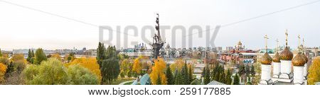 Moscow, Russia - October 17, 2018: Panorama Of Moscow Downtown - International Business Center, Pete