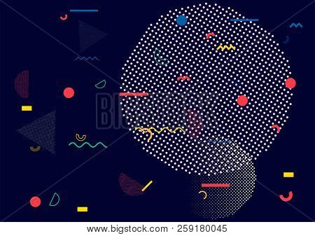 Memphis Pattern, Vector Seamless Cover, Simple Geometric Design. Trendy Wallpaper Texture Corporate