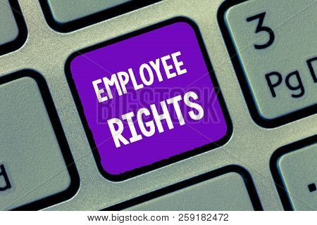 Handwriting Text Writing Employee Rights. Concept Meaning All Employees Have Basic Rights In Their O