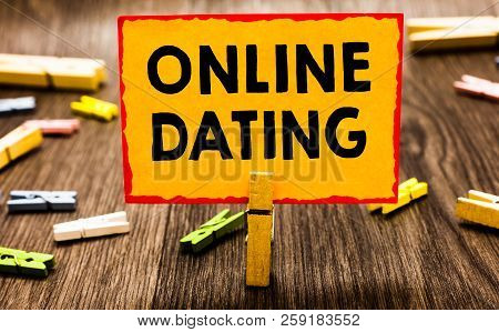 Conceptual Hand Writing Showing Online Dating. Business Photo Showcasing Searching Matching Relation