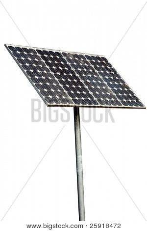 solar cells isolated on white with room for your text or images