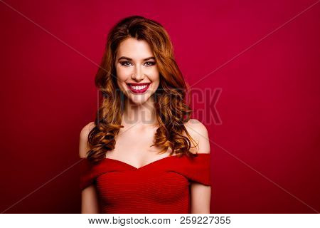 Leisure, Lifestyle Concept. Portrait Of Gorgeous, Nice, Stunning, Adorable, Good-looking Woman With