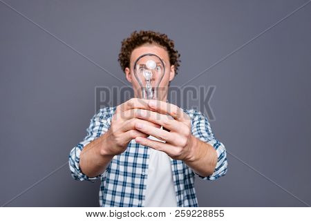 Stylish Trendy Good-looking Nice Handsome Attractive Intelligent Guy With Wavy Hair In Casual Checke