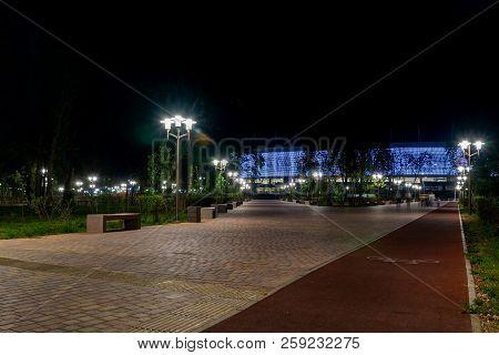 Russia, Rostov On Don, September 13, 2018: Park On Embankment Of Left Side Don River Near Rostov Are