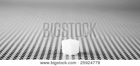 "a sugar cube with an eye dropper dropping a ""HIT"" of ""LSD"" onto it on a black and white background"