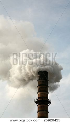 Smokestack Polluting the Air causing GLOBAL WARMING with CO2 Gas