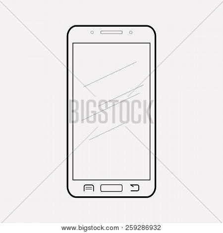 Smart Phone Icon Line Element. Vector Illustration Of Smart Phone Icon Line Isolated On Clean Backgr