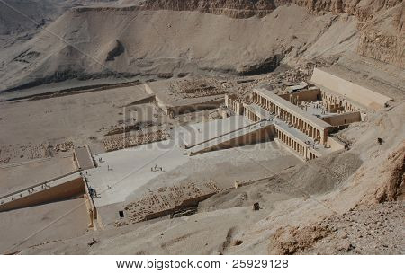 Mortuary temple of Queen Hapshepsut, one of the few female pharaohs, near Luxor (Thebes), Egypt