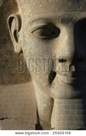 Colossi of Ramses II in front of Luxor Temple in Luxor (Thebes), Egypt