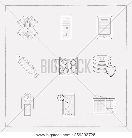 Set Electronic Icons Image & Photo (Free Trial) | Bigstock