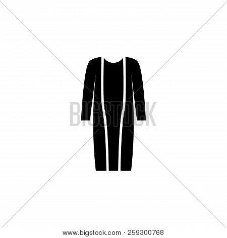 Cardigan Icon On White Background. Clothing Or Clothes Or Fashion For Man Woman Icon Vector Illustra