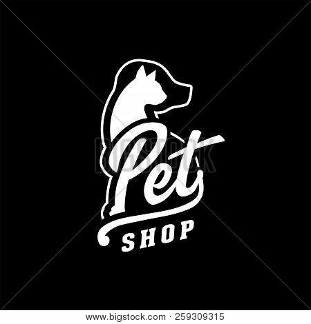 Pet Shop Design Template. Vector And Illustration.